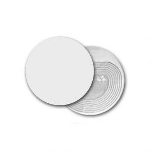 Étiquette RF ronde blanche