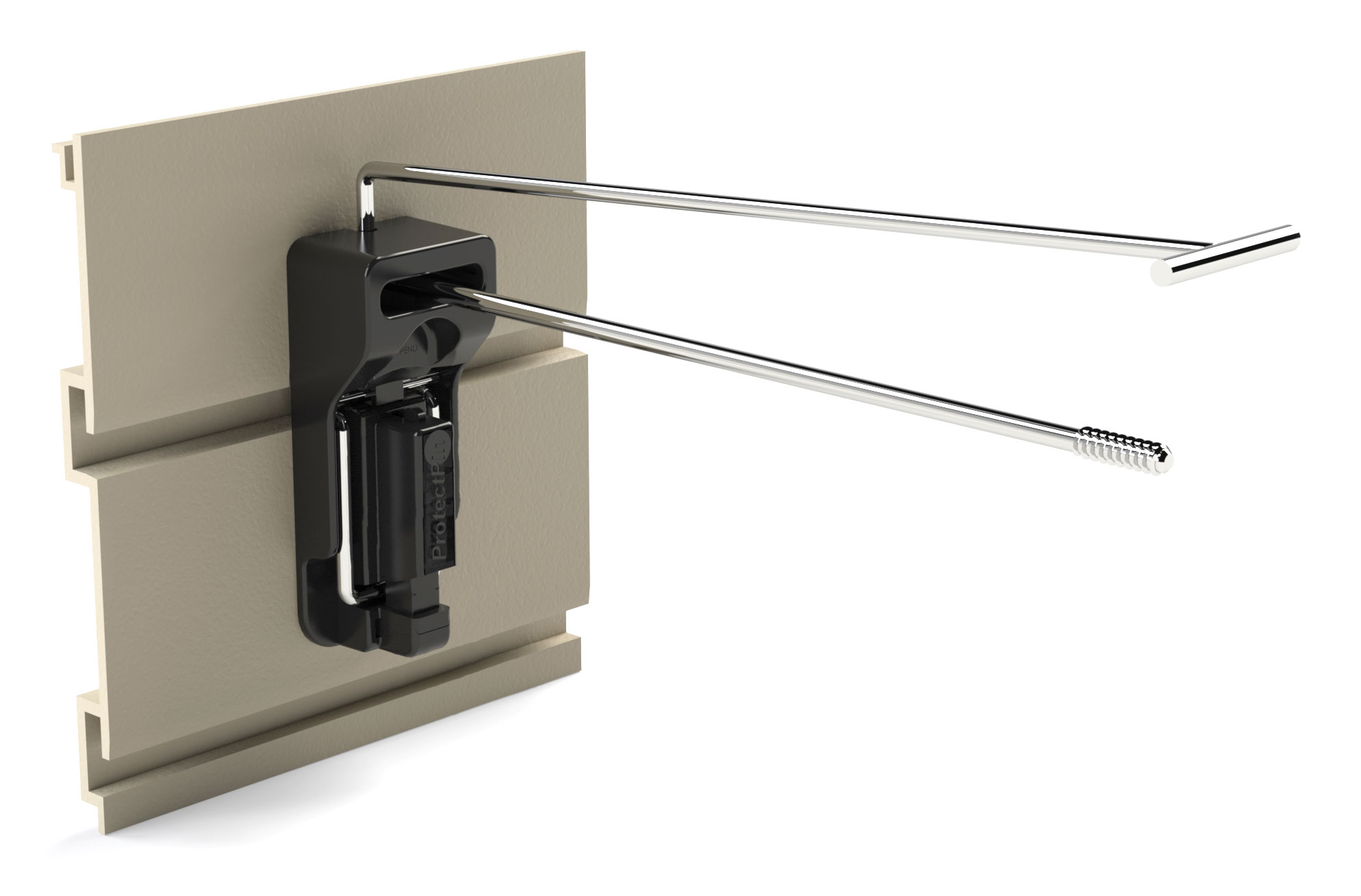 ProtectPin SpinTag | On grooved metal sheet panel