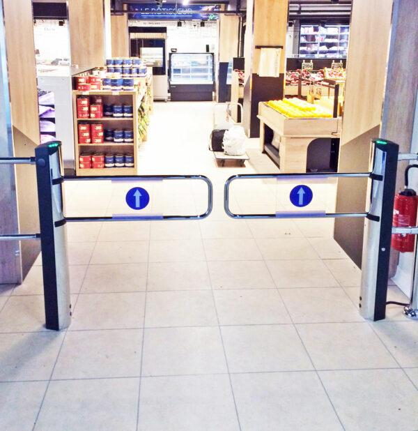 Portillons automatiques supermarché
